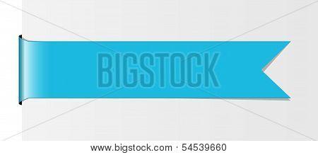 The light blue ribbon