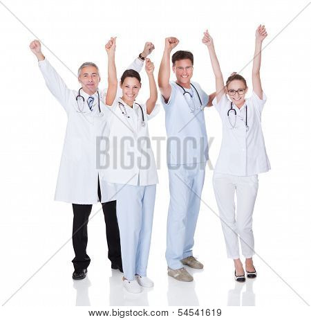 Medical Team Celebrating Success