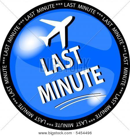 Blue Last Minute Button