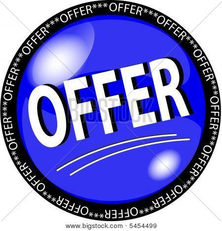 Blue Offer Button