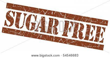 Sugar Free Brown Grunge Stamp