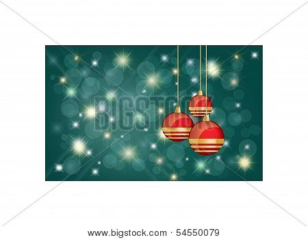 Christmas Card Background With Copyspace