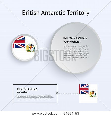 British Antarctic Territory Country Set of Banners.