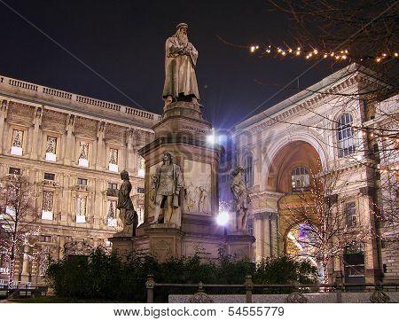 Leonardo's Monument, Milan, Italy