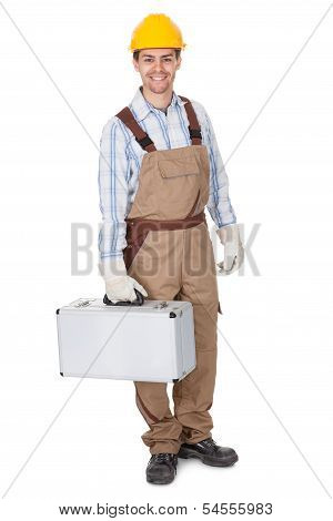 Workman Carrying A Toolkit