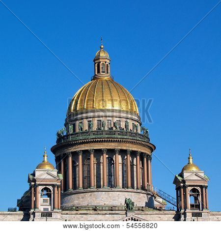 Saint Isaac Cathedral In Saint Petersburg