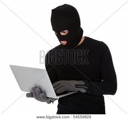 Burglar On Computer