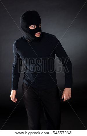Thief Wearing A Balaclava