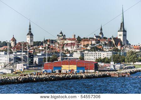 Panorama Of Tallinn City