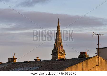 Elgin, South Church standing tall.