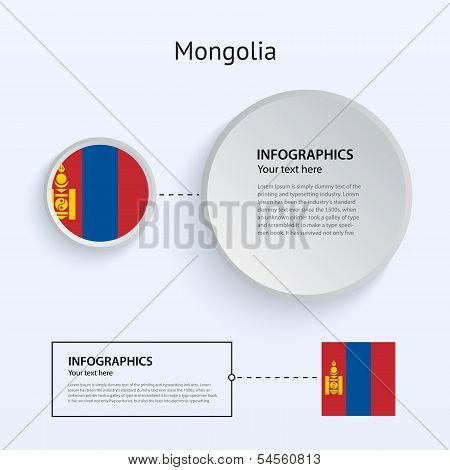 Mongolia Country Set of Banners.