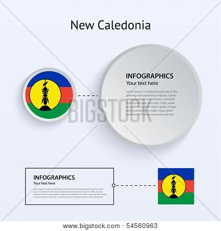 New Caledonia Country Set of Banners.