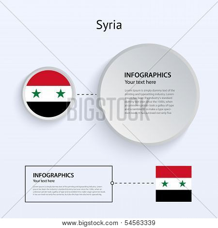 Syria Country Set of Banners.