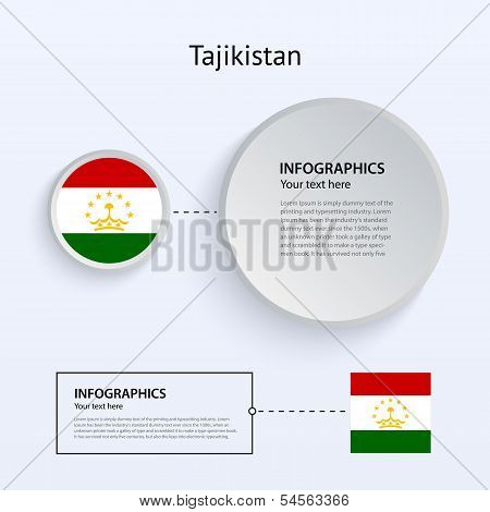Tajikistan Country Set of Banners.