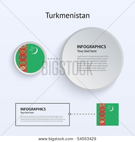 Turkmenistan Country Set of Banners.