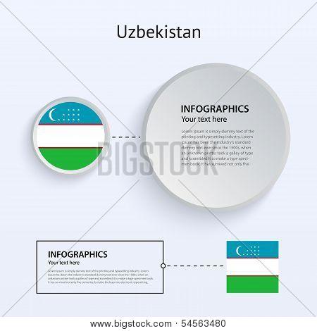 Uzbekistan Country Set of Banners.