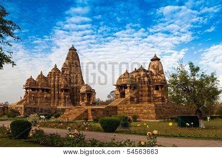 Kandariya Mahadeva Temple, Khajuraho, India, Unesco Heritage Site.
