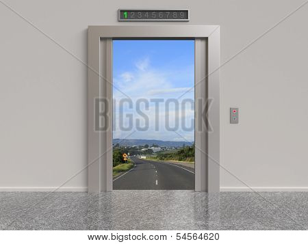Elevator And Road