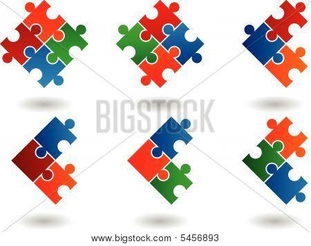 6 Jigsaw Icons