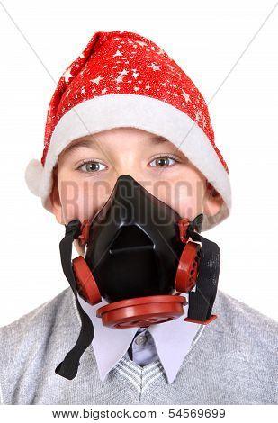 Boy In Gas Mask