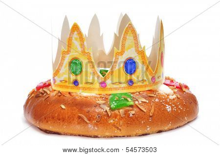 roscon de reyes, spanish three kings cake eaten on epiphany day