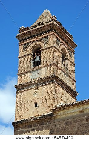 San Luise church tower, Velez Blanco, Spain.