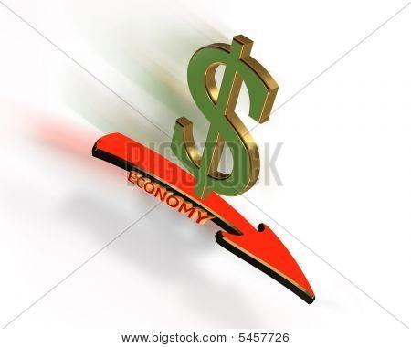 Economy Recession 3D Graphic