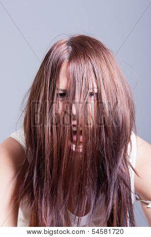 horror woman possessed