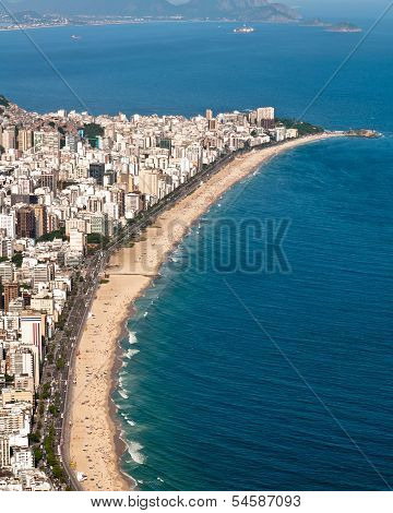 Aerial view of Ipanema and Leblon beach