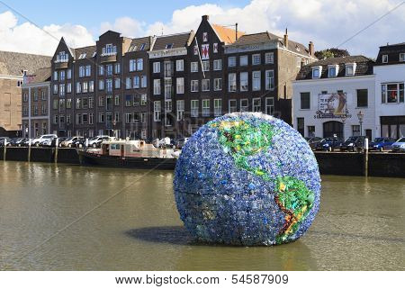 Huge Plastic Globe Named World Litter