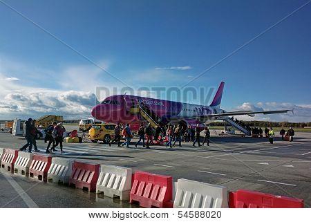 Wizzair Airplane In Eindhoven