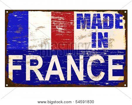 Made In France Enamel Sign