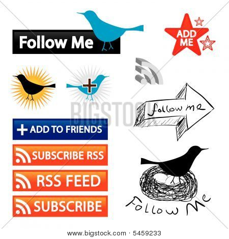 Follow Me Blog Buttons