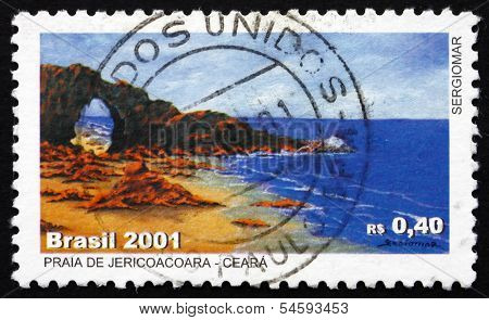 Postage Stamp Brazil 2001 Jericoacoara, Beach