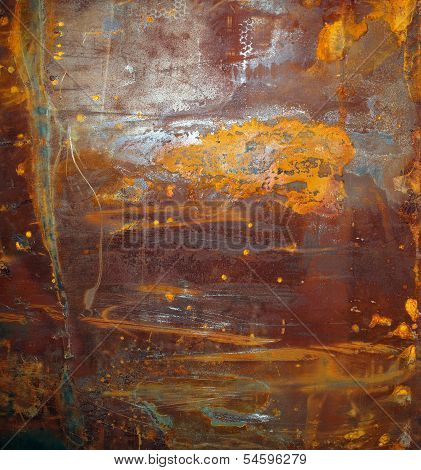 Rusty Surface On Corroded Metal