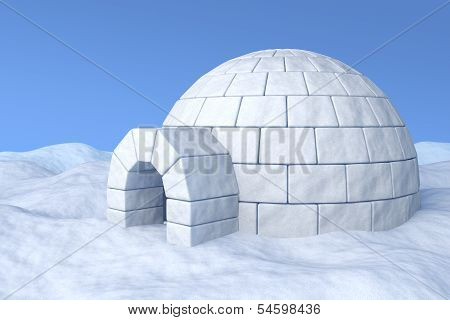 Igloo On Snow