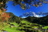picture of italian alps  - Santa Maddalena Village - JPG
