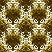 foto of bohemian  - Bold dotted geometric pattern in art deco style - JPG