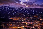picture of snowy hill  - Breckenridge Winter Sunset - JPG