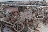 image of scrap-iron  - Rusted old vintage scrap metal - JPG