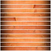 image of driftwood fence  - old weathered wood planks with vignette on white background - JPG