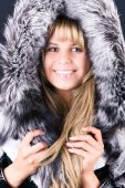 Young Woman With Fluffy Hood poster