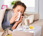 foto of sneezing  - Sick Woman - JPG