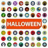 image of wolf moon  - halloween icon set - JPG