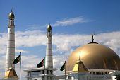 stock photo of turkmenistan  - Mosque in native village of first president of Turkmenistan Niyazov - JPG