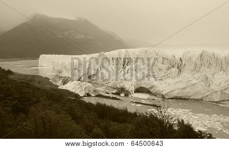 Patagonian Landscape With Lake And Glaciers