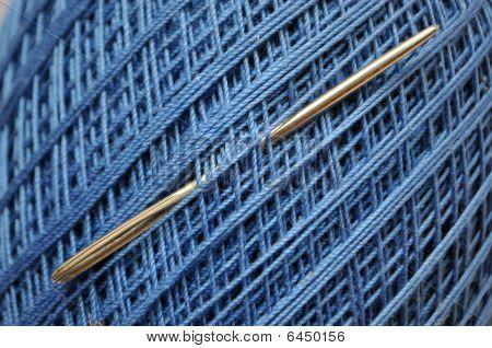 Blue Yarn Spool