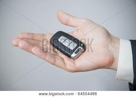 Businessman Using Car Key