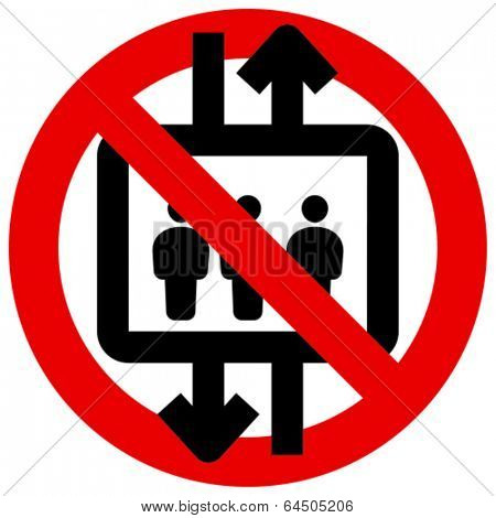 Do not use elevator vector icon