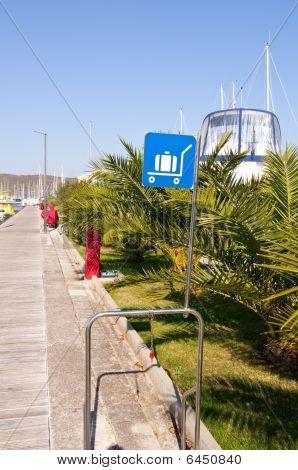 Luggage Area Sign In Marina